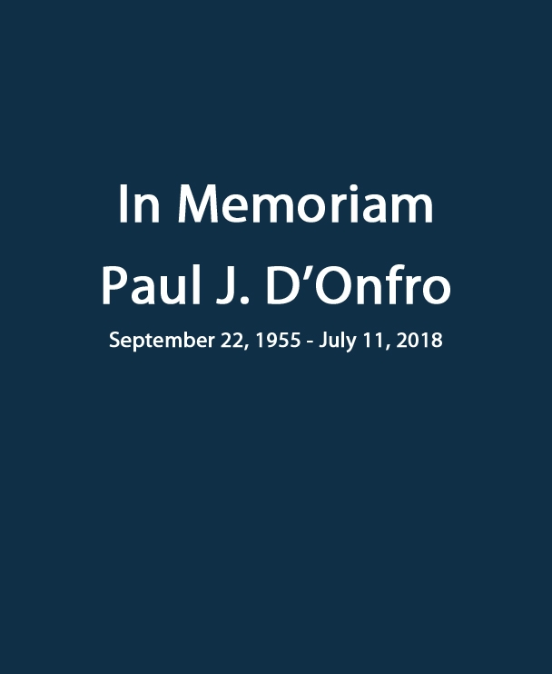 In Memoriam Paul J. D'Onfro